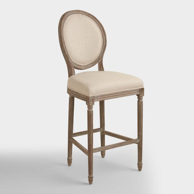 Natural Linen Paige Barstool