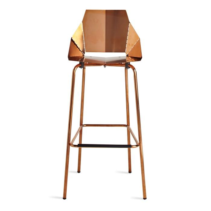 Blue Dot Copper Barstool