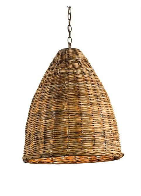 Basket Pendant by Currey & Company